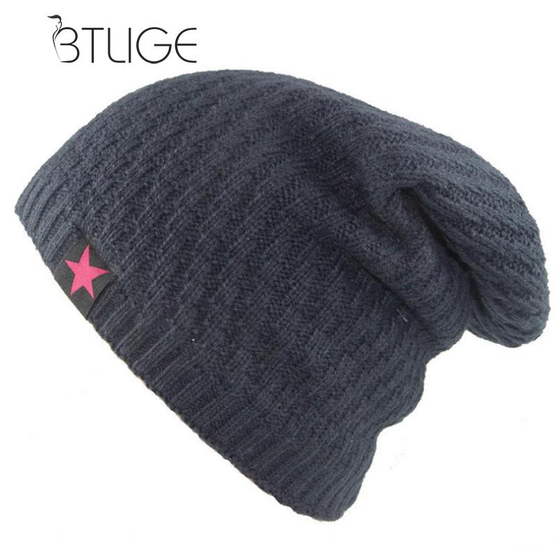 Bonnet Red Star Hat Men's Winter Beanie Man Skullies Knitted Wo Beanies Men Winter Hats Hip Hop Caps Autu Gorros