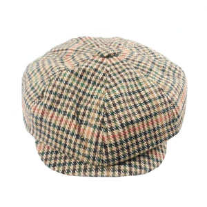 343c6b77c7f Newsboy Hats Berets Men Female Houndstooth Wo Tweed Gatsby Flat Cap Casual  Checkered Autu Vintage Painters Hat