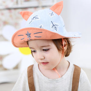 f266d916d19a2b Baby Boy Girl Adjustable Beach Bucket Hats Kids Reversible Sun Protection  Caps