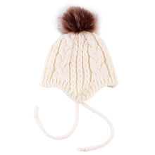Load image into Gallery viewer, Baby Boys Girl Knitted Winter Beanie Pom Pom Bobble Warm Hat Christmas Gift