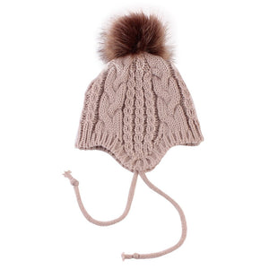 Baby Boys Girl Knitted Winter Beanie Pom Pom Bobble Warm Hat Christmas Gift