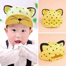 Load image into Gallery viewer, Baby Hat Summer Baby Hats With Ears Baseball Cap Baby Boys Girls Cotton Sun Hat Red,Yellow,Blue,Black,Beige