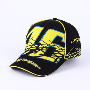 bd3a529b021 2018 New Patchwork Moto GP Cap Gorras Snapback Vrfortysix Rossi VR 46 Multi  The Doctor Motorcycle