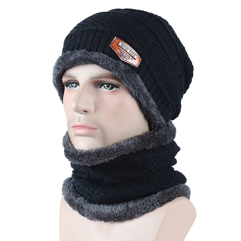 Balaclava Knitted Hat Scarf Neck Warmer Fleece Hats for Men Women ... f2b29e0f9bd