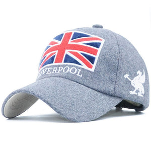 Baseball Cap Men Dad Hat For Women The Union Jack embroidery Hat Full Cap Sports Bend Visor Male Bones Fitted Cap Baseball Hats