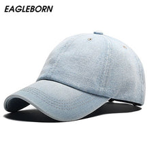 Load image into Gallery viewer, Baseball Cap Men Snapback Cowboy Caps Brand Homme Hats For Women Bone Jeans Denim Blank Gorras Casquette Plain 2020 New Hat