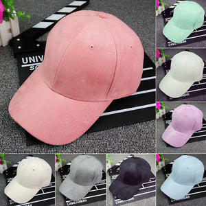 Baseball Cap Plain Blank Adjustable Hat Solid Distressed One Size Polo Style a1cad57ed16