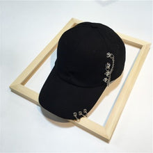 Load image into Gallery viewer, Baseball Caps Harajuku Style Hip Hop  Unisex Hats Snapback Punk Metal Hoop Hats  High Quality Snapback Cap Iron Hoop