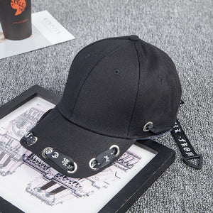 Baseball Hats Men Women Popular Long Tape Leisure Baseball Hat Fashion  Personality Curved Eaves Peaked Cap 88249d05b31