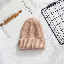 Load image into Gallery viewer, Beanies Women 2019 New Solid Knitted Warm Soft Trendy Hats Simple Korean Style Womens Wool Casual Caps Elegant All-match Beanie