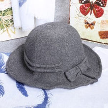 Load image into Gallery viewer, Beautiful New Arrival Adjustable Women's Butterfly Hat Fashion Fisherman Cap Winter Girls Grey Red