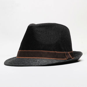 Male Summer Good Quality Panama Hats Man Outdoors Casual Jazz Hat Cap Men Party Formal Fedora Hat