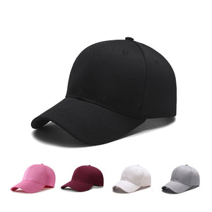 Black Adult Unisex Casual Solid Adjustable Baseball Caps Snapback Cap Casquette Hats Fitted Casual Gorras Dad Hats For Men Women
