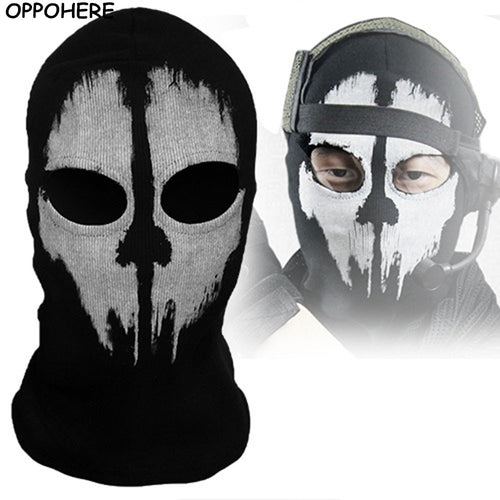Black Mask Balaclava Beanies Hats Men Ghost Skull Full Face Warmly Gothic Balaclava Ghost Skull Face Mask Hood Neck Face Mask