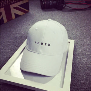 Black White Youth Cap Curved Trim Polo Baseball Cap Hip Hop Men Women Plain Blank Snapback Hat Bone Casquette Gorra Goft Hat