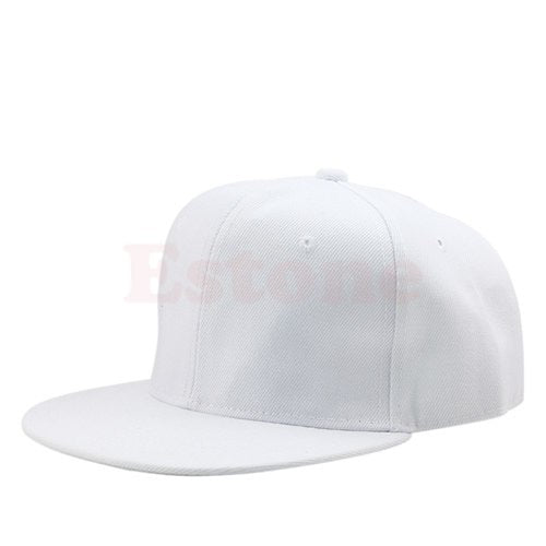 cb6e452cc Blank Plain Snapback Hats Unisex Men's HipHop Adjustable Bboy Baseball Cap