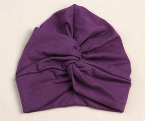 50979455a7e Baby Top Knot Turban hat Little girls Headwrap Soft cotton Turban vintage  style retro baby Beanies