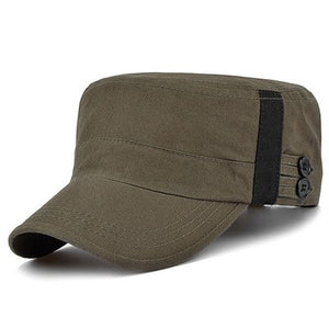 55-59cm adju cotton and polyester blending military cap summer breathable for adult man green khaki blue M561