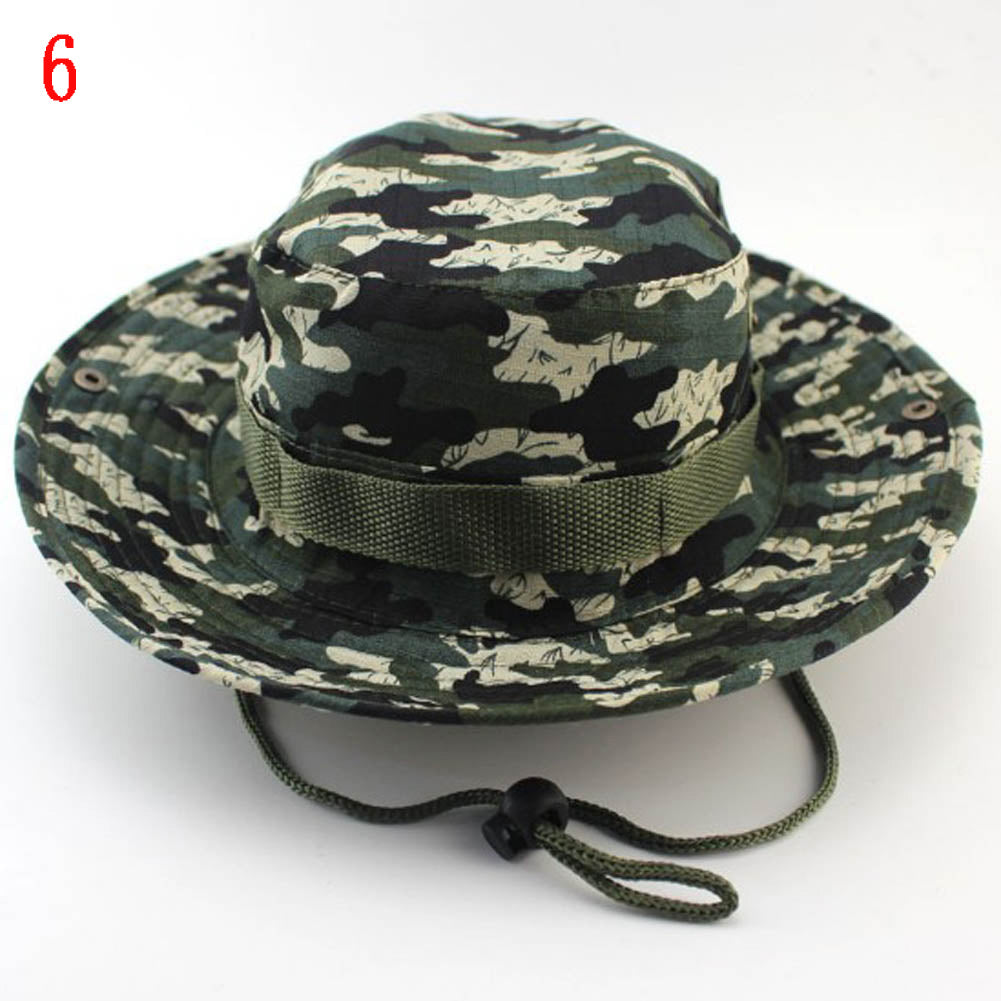 Boonie Hats Tactical Airsoft Sniper Camouflage Tree Bucket Hat ... 6839ecb61938