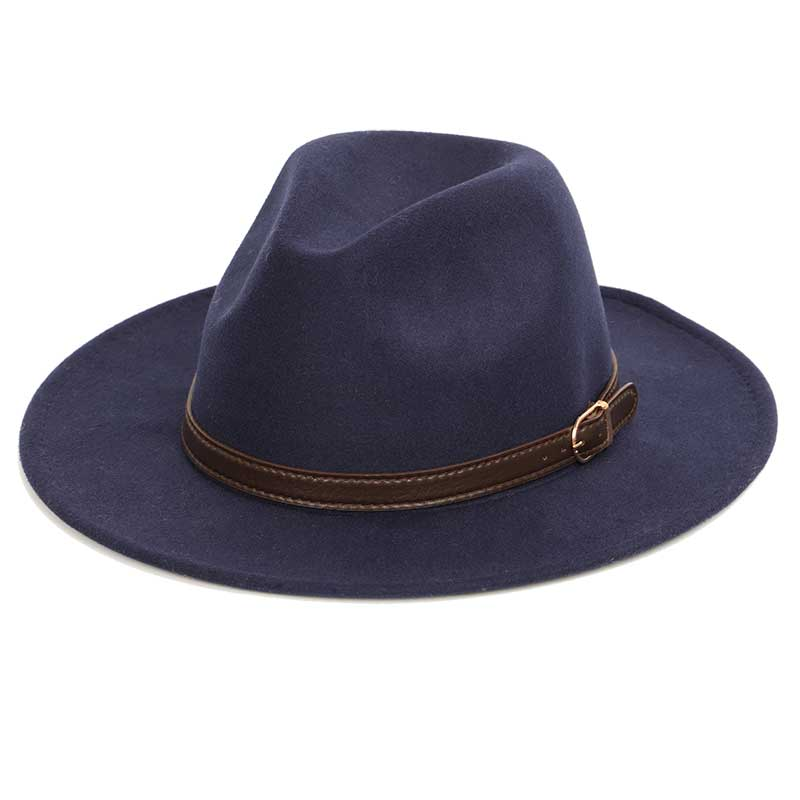 Bowler hat man men's fashion shallow fedora hats classic unisex solid color belt gold buckle large size caps 60CM wo warm male
