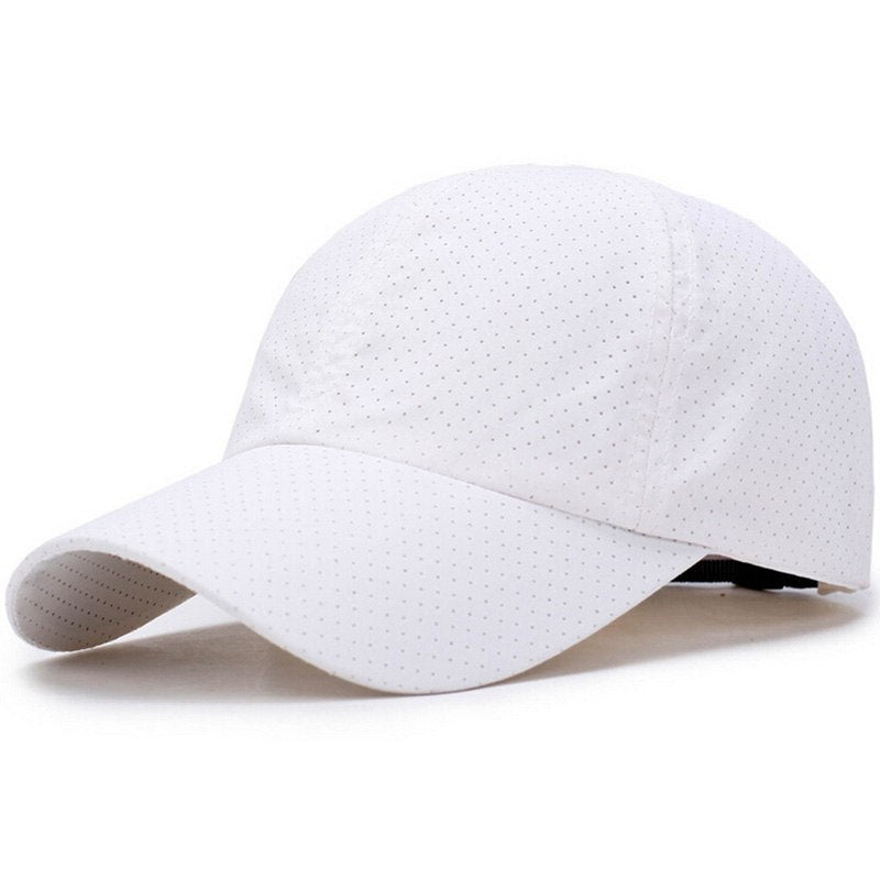 Brand 2018 Summer Men's Breathable Mesh Hats Baseball Caps Male Sport Solid Color Bone Snapback Hats Women Casual Baseball Hats