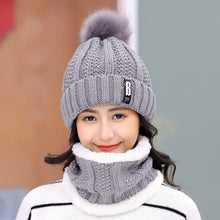 Load image into Gallery viewer, Brand Winter knitted Beanies Hats Women Thick Warm Beanie Skullies Hat Female knit Letter Bonnet Beanie Caps Outdoor Riding Sets