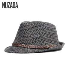 Load image into Gallery viewer, Brands  Autumn Winter Men Fedoras Top Jazz Hat Bowler Hats Quality Cotton Cap England Retro Classic Version You Can Adjust