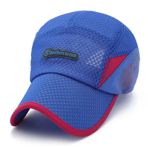 Breathable Summer style Quick Dry R Baseball Caps Men Women Mesh Brothers casquette snapback Fitted Hats Camping Sports