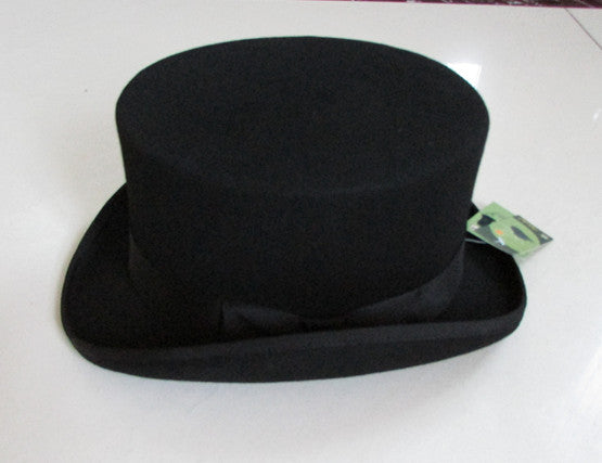 British Style Men Women Wo Fedora Steampunk Top Hat Cylinder Magician Magic Cap Good Package Wo Fedoras Cap 12cm High B-8114