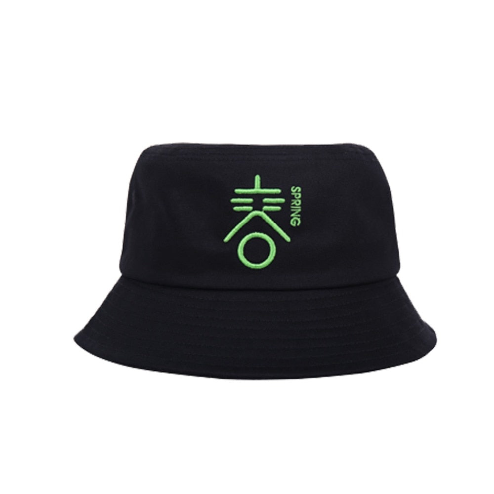 Bucket hat spring summer autu winter 4 season embroider Fashion Unisex Reversible Foldable Women Men Fisherman Hats