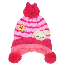 Load image into Gallery viewer, Bunny plus cashmere children hat autumn and winter new baby hat ball baby hat baby ear cap beige