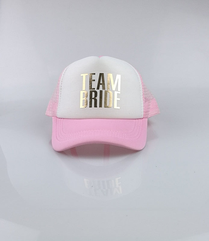 C Fung SQUAD BRIDE T BRIDE trucker hats basebal Caps for wedding ... 8461a2f2ecff