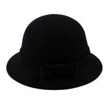 Load image into Gallery viewer, 100% Wo Black Fedoras Hats For Children Casual Baby Fashion Fedoras Caps Adjustable Head Winter Wo Baby Fedoras Hats