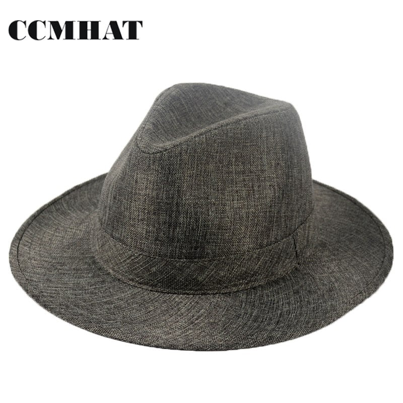 fc691ce19e9e7 Wide Brim Sun Hat For Women Black Flat Summer Beach Hat Caps Polyester  Fashion Panama Hat Caps For Mens Feminino