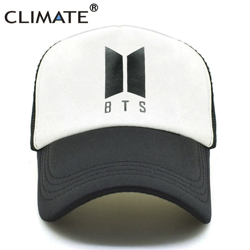 BTS Bangtan Boys Caps K POP Hat Baseball Cap Men K-pop Caps Hot Summer Co Black Baseball Mesh Net Caps Hat for Girl
