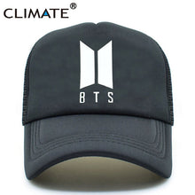 Load image into Gallery viewer, BTS Bangtan Boys Caps K POP Hat Baseball Cap Men K-pop Caps Hot Summer Co Black Baseball Mesh Net Caps Hat for Girl