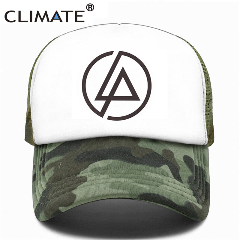 Linkin Park Trucker Cap Hat Men Summer Rock' N' Roll' Music Band Chester Co Baseball Mesh Net Trucker Caps Hat For Men