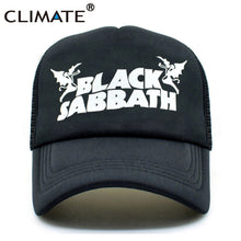 Load image into Gallery viewer, Men Women Trucker Caps Black Sabbath  Caps Co Summer Heavy Metal  Music Band Baseball Mesh Net Trucker Cap Hat