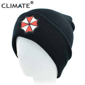 Men Women Winter Warm Beanie Hat Resident Evil Umbrella Corporation Soft Co Knitted Beanie Hat Cap For Adult Men Women