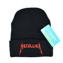 Load image into Gallery viewer, Men Women Winter Warm Beanie Hat Rock Metallica ACDC Rock Band Warm Winter Knitted Beanies Hat Cap For Adult Men Women