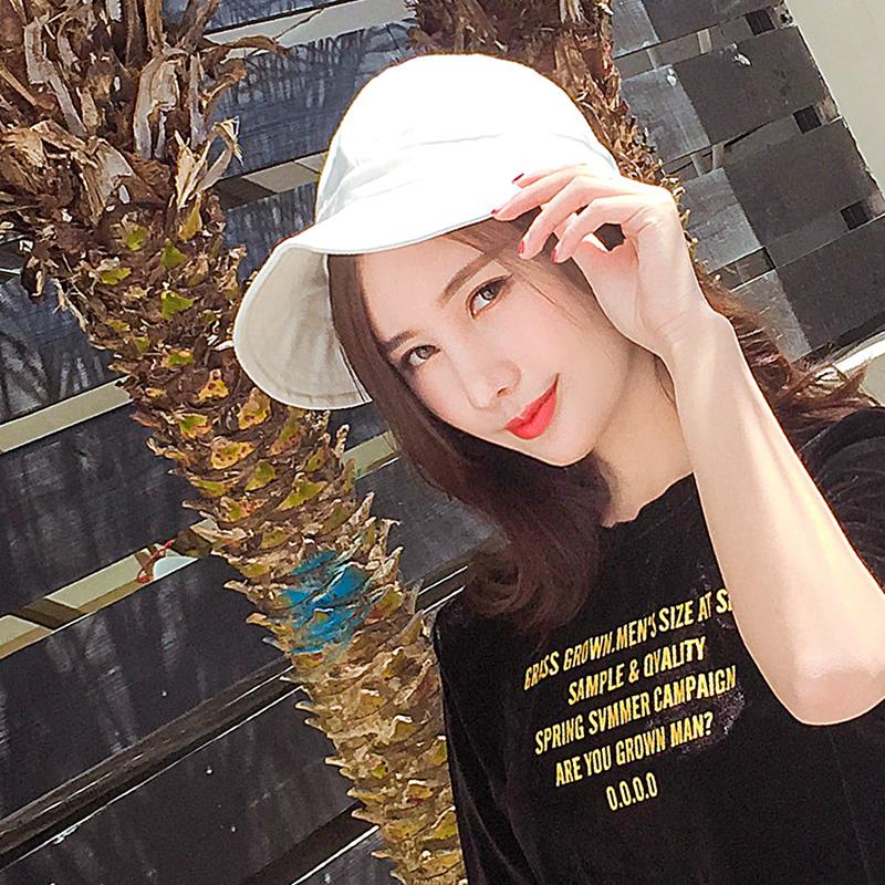 3459d415325751 Load image into Gallery viewer, Spring Summer Hats For Women Wide Brim  Bucket Hat Kpop ...