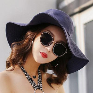 Spring Summer Sun Hats For Women Large Wide Brim Cotton Bucket Hat Beach Panama Hat Cap Visor Seaside Chapeau Femme New