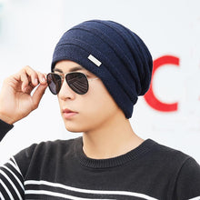 Load image into Gallery viewer, Winter Skullies Beanies Men Knitted Hat Caps Lining Keep warm Male Gorras Bonnet Winter Hats For Men Women Beanies Hats New