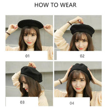Load image into Gallery viewer, COKK Wool Beret Female Winter Hats For Women Flat Cap Knit 100% Cashmere Hats Lady Girl Berets Hat Female Bone Tocas Painter Hat