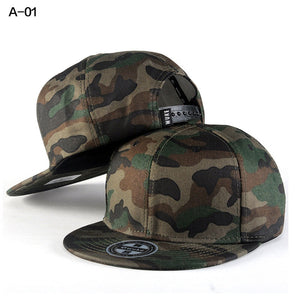Camo Snapback Caps 2017 New Hip Hop Hats For Men Women Camouflage Baseball Cap Style