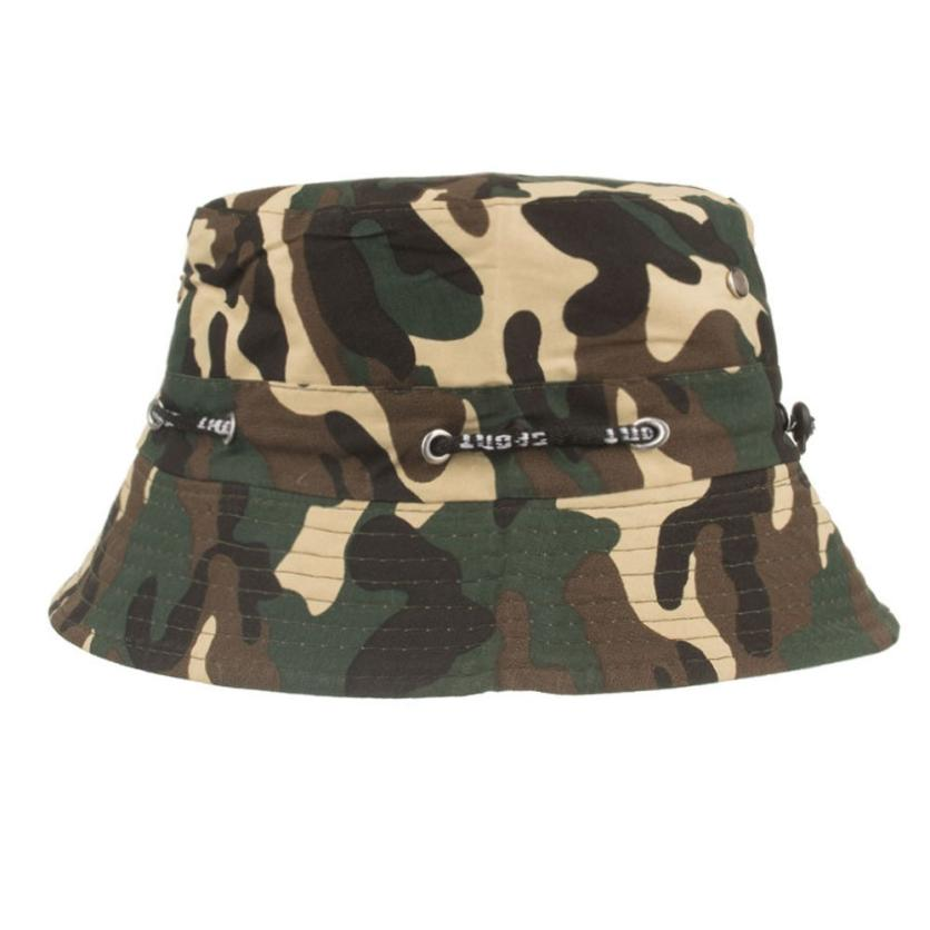 56dd4ba5 Camouflage Mens Fisherman Bucket Hat Boonie Hats Nepalese Cap Army Hat  Adjustable Cap Panama High Quality Cotton Simple Hats