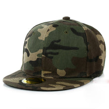 Load image into Gallery viewer, Camouflage snapback women men polyester caps blank flat camo baseball cap boy girl snapback dad hat casquette gorras