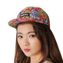 Load image into Gallery viewer, Cap Hip Hop Tree Flower Cotton Print Baseball Cap Boys Girls Snapback Flat Hat Sobretudo Feminino