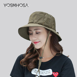 Cap Men Solid Summer Sun Hats for Women UV Protection Bucket Hats Hiking  Wide Brim Mens Cap and Hat Dad Fishing Hat Unisex WH620 bb6eac701e3f