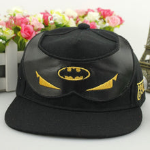 Load image into Gallery viewer, Cartoon Anime Super Hero Batman Mask Baseball Caps For Children Boy Adjustable Hip Hop Hats Sun Hat Outdoor Shade Cap BATMAN